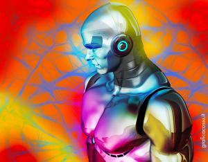 Robot nella grafica online