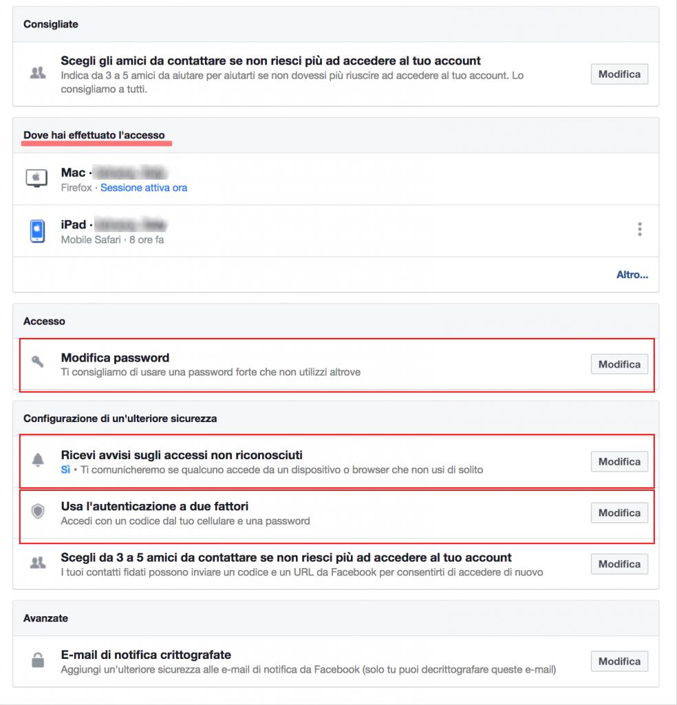 impostazioni privacy su facebook