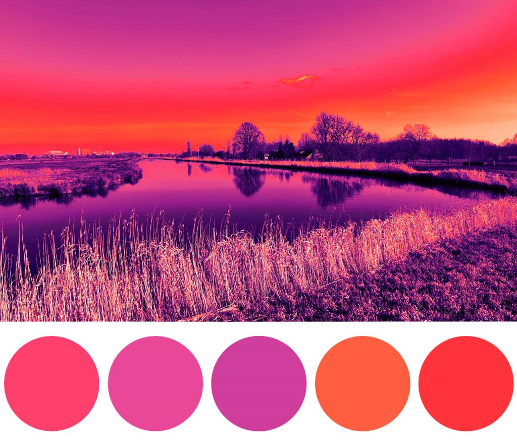 La palette dei colori: i colori analoghi sono quelli affini tra loro.