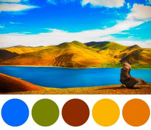 Palette di colori per il settore Viaggi