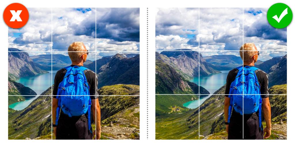 Come creare la grafica per i Social Media: applicare ad una foto la regola dei terzi ti aiuta a migliorare l'equilibro dell'immagine