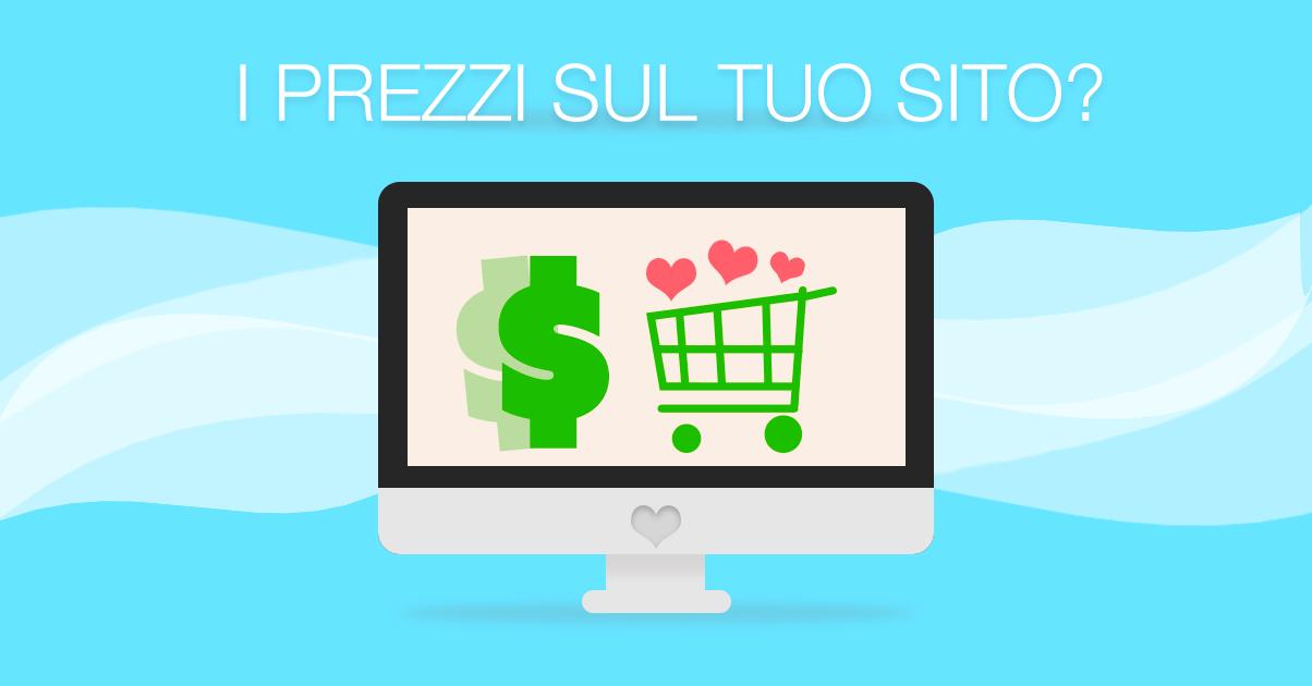 Pubblicare i prezzi sul tuo sito web è una buona idea?