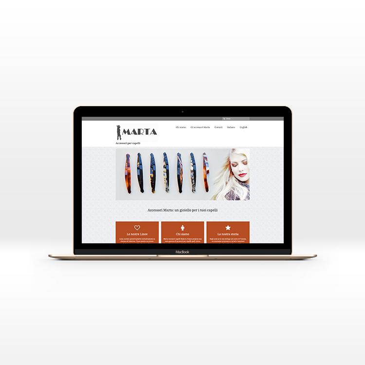 Sito per ditta di accessori per capelli, realizzazione del sito web di Silvia Cossu