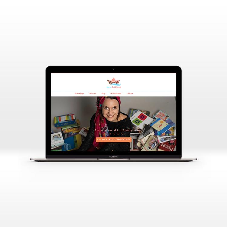 Realizzazione Sito web e blog di poesia e scrittura, design di Silvia Cossu