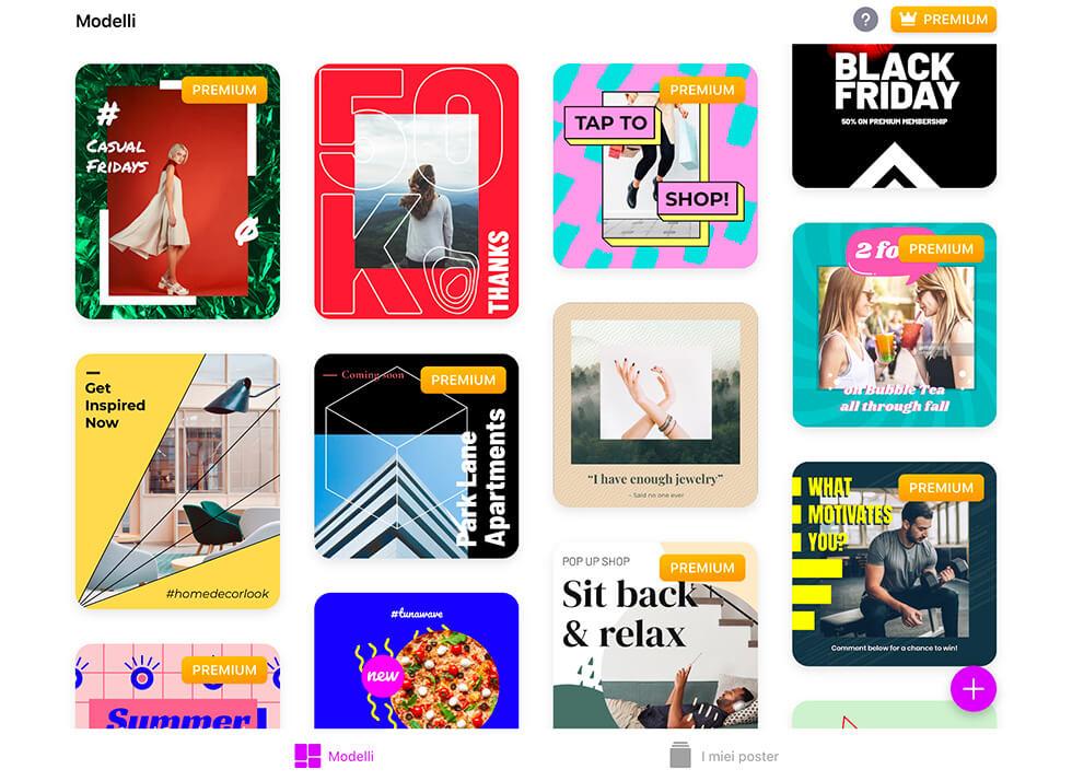 App per Instagram: un'anteprima di PosterBoost, una app che ti permette di progettare post e storie per Ig creative ed animate